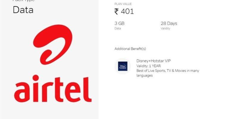 airtel 401 prepaid plan