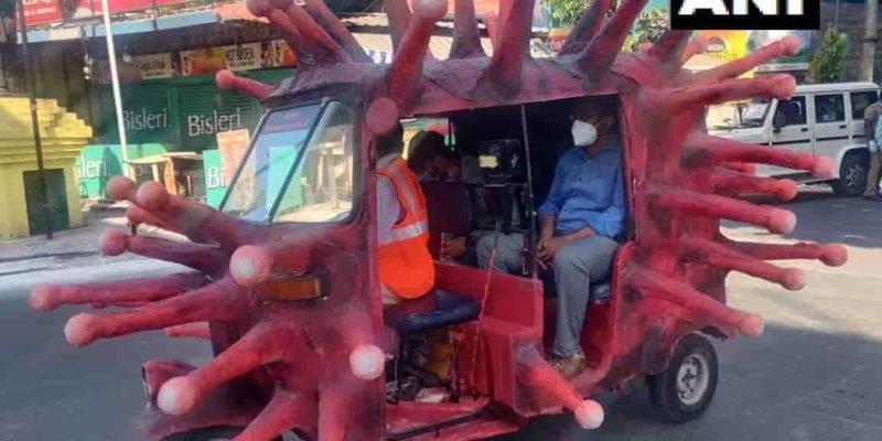 tamilnadu corona design autorickshaw